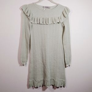 ASOS Mint Green Crochet Long Sleeve Dress NEW 0